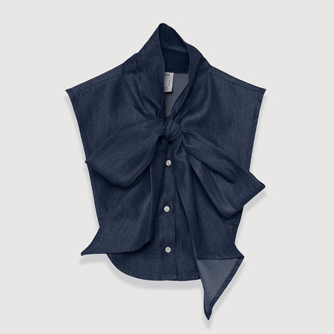 Olympia in Dark Blue Chambray