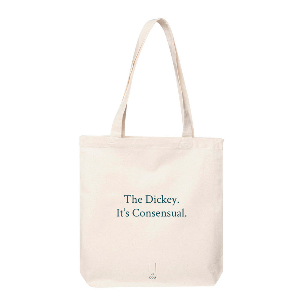 Dickey, canvas tote, Le Cou, dirty word