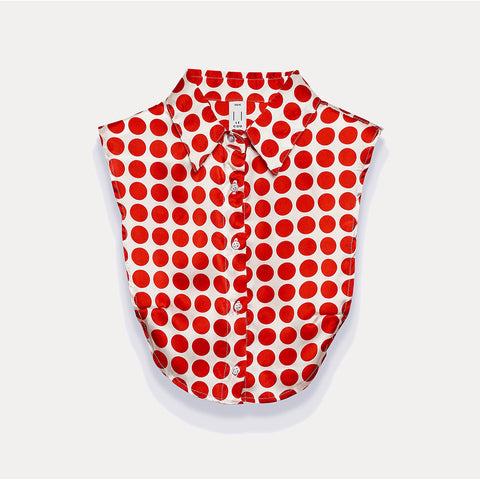 The Wakefield in White & Red Large Polka Dot Silk