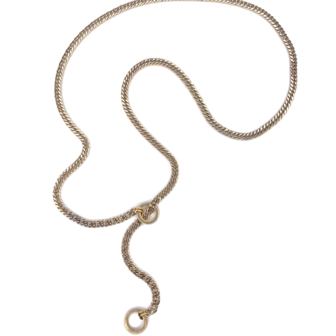 "Donna 36"" Gold Choker Necklace"