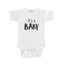 it's a baby gender neutral baby announcement onesie