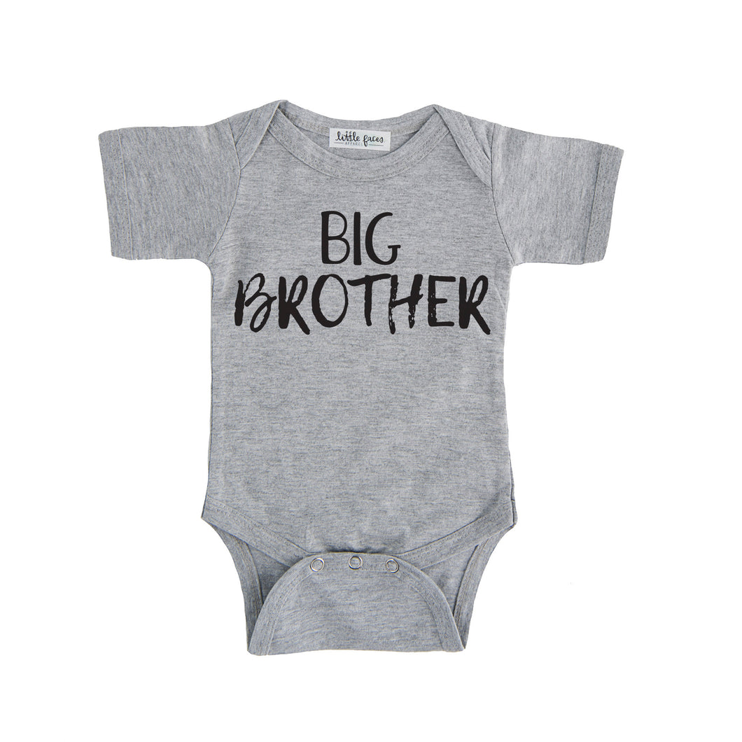big brother tee onesie grey big brother sibling onesie