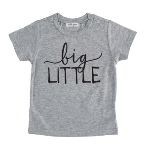 big little tee shirt grey big little sibling onesie pregnancy announcement sibling tshirt set