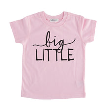 big little tee shirt pink big little sibling onesie pregnancy announcement sibling tshirt set