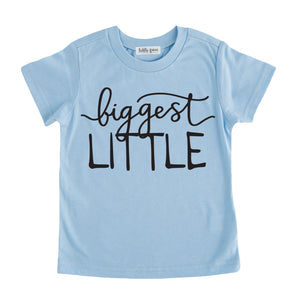 biggest little tshirt blue biggest little sibling tee shirt set pregnancy announcement sibling tshirt set