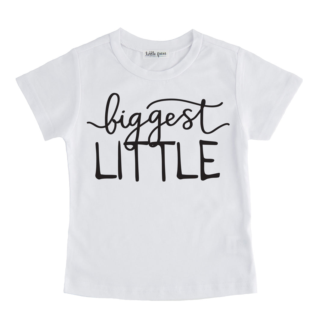 biggest little tshirt white biggest little sibling tee shirt set pregnancy announcement sibling tshirt set