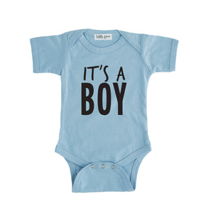 blue it's a boy onesie gender reveal onesie