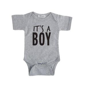 grey it's a boy onesie gender reveal onesie