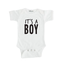 white it's a boy onesie gender reveal onesie