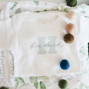 Name Reveal Onesie - Personalized Name Onesie