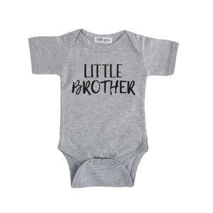 little brother onesie grey little brother sibling onesie big brother little brother set