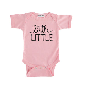 little little onesie white little little sibling pregnancy announcement set sibling tshirt set