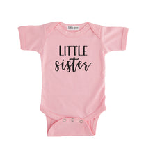little sister onesie pink little sister sibling onesie pregnancy announcement sibling tshirt set