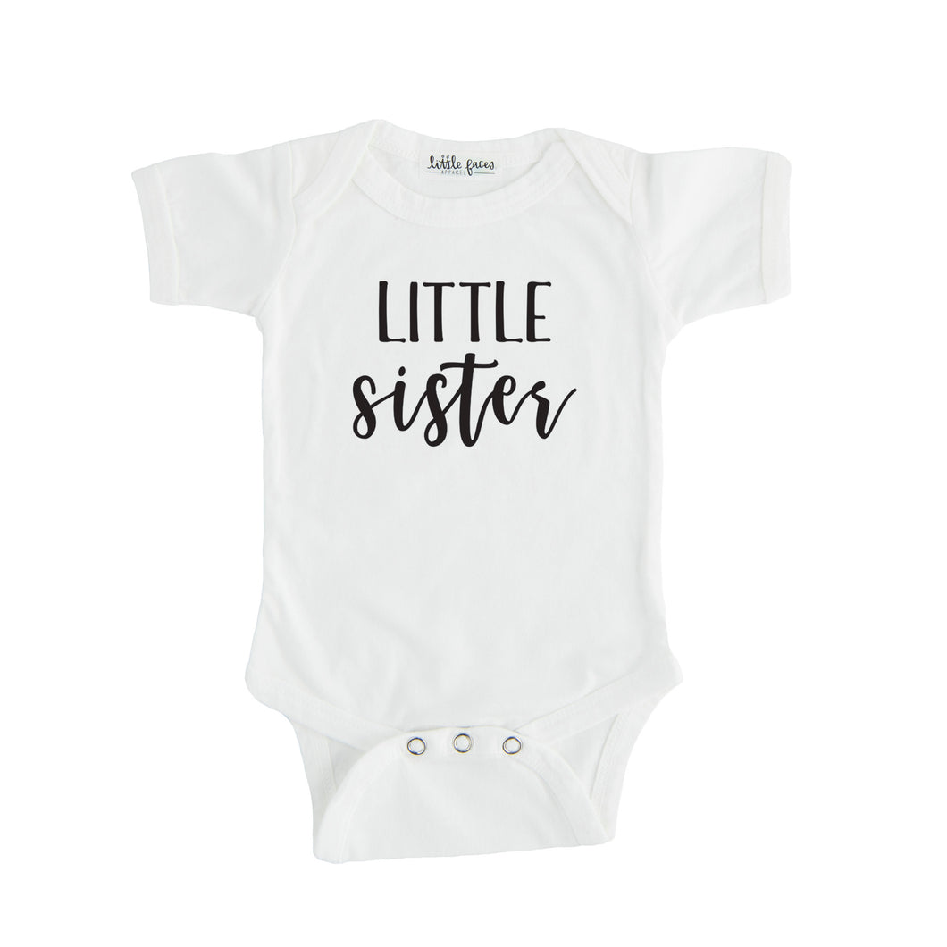 little sister onesie white little sister sibling onesie pregnancy announcement sibling tshirt set