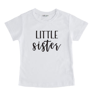 little sister tee shirt white little sister sibling tshirt pregnancy announcement sibling tshirt set