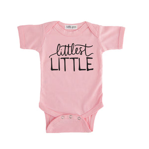 littlest little onesie pink littlest little sibling pregnancy announcement set sibling tshirt set