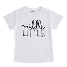 Middle Little - Pregnancy Announcement Sibling Tee