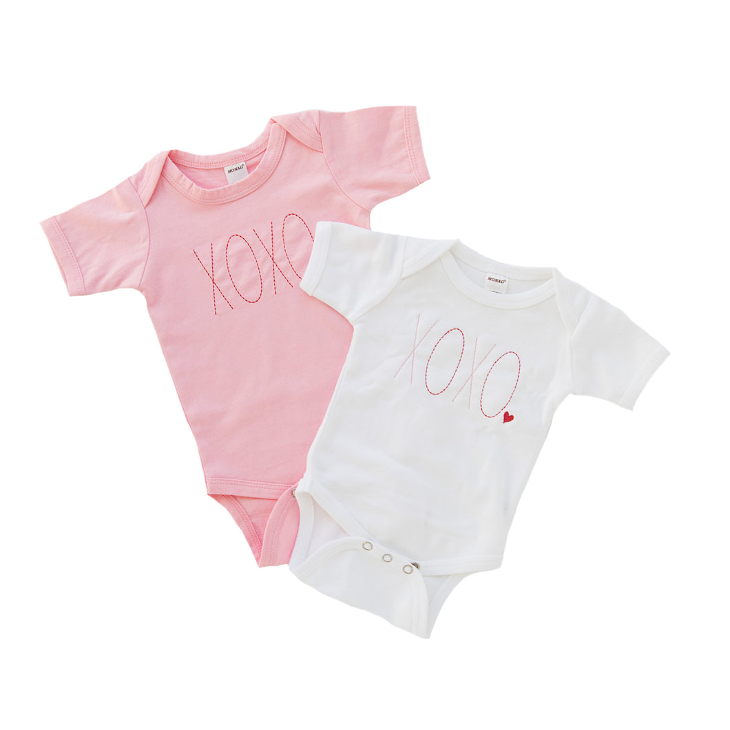 XOXO Embroidered - Valentine's Day Bodysuit