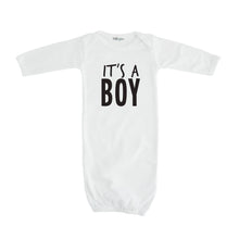 white it's a boy onesie gender reveal layette