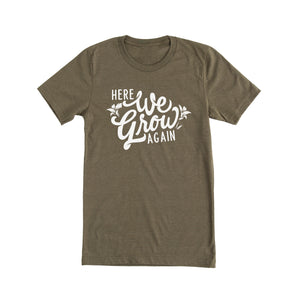Here We Grow Again Tshirt - Pregnancy Announcement Tee for Mom