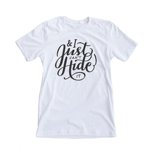 I Just Can't Hide It Tshirt - Pregnancy Announcement Tee for Mom