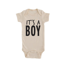 cream it's a boy onesie gender reveal onesie