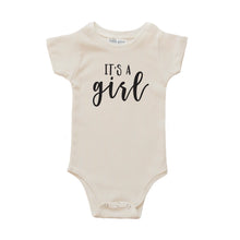 cream it's a girl onesie gender reveal onesie