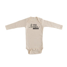 little miss gender reveal onesie