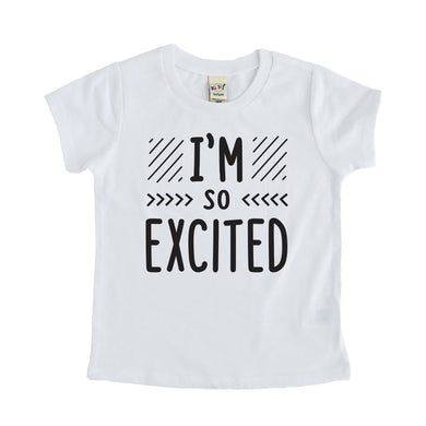 I'm so excited tee shirt kids pregnancy announcement sibling tshirt