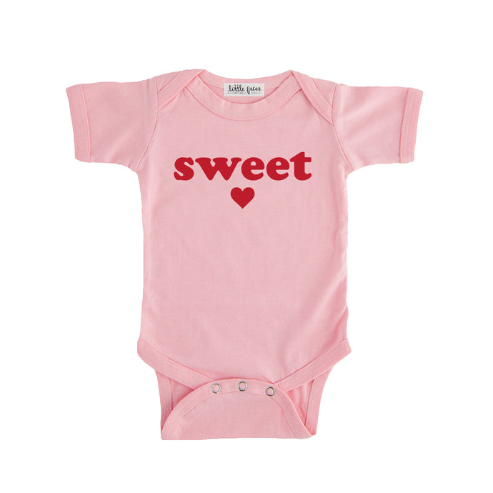 pink sweetheart onesie sweetheart onesie cream baby onesie valentine's day pregnancy announcement onesie