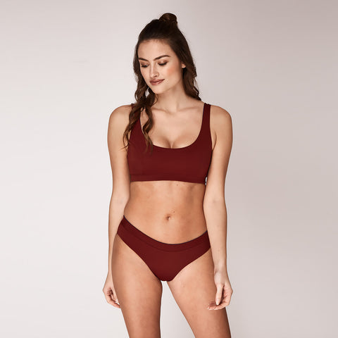 ANAIS Top - Reversible blue / wine