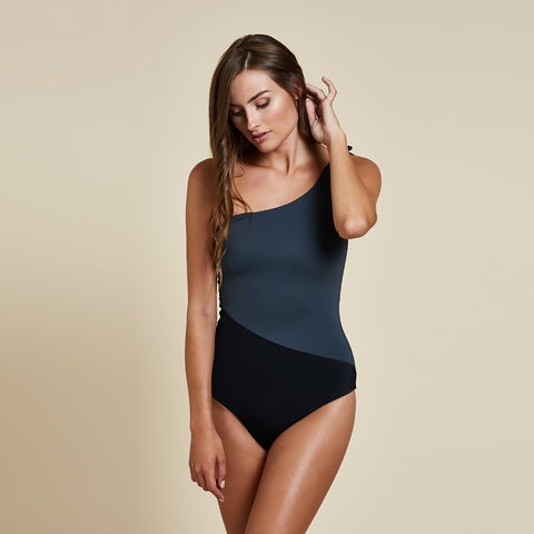 Sydney One Piece Reversible - Grey / Black