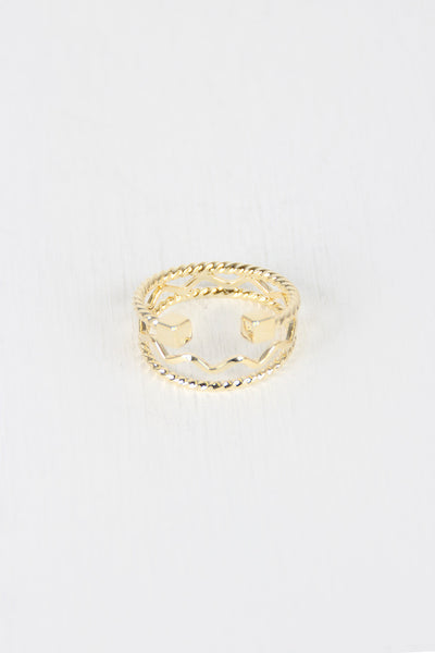 Stacked Multi Band Cube Ring for $ 0.14 at KenKay Apparel