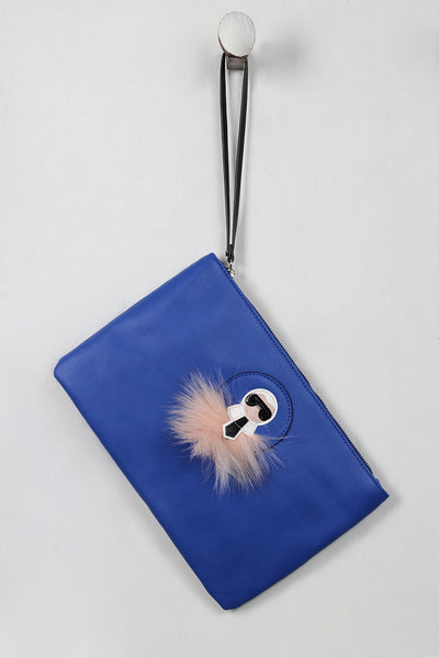 Faux Fur Accent Style Icon Clutch for $ 0.40 at KenKay Apparel