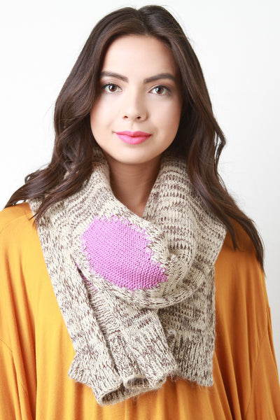 Colorful Patches Knitted Scarf for $ 0.29 at KenKay Apparel