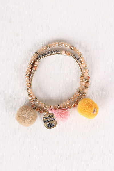 You're Beautiful Beaded Bracelet Set for $ 0.17 at KenKay Apparel