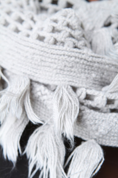 Open Knit Tassel Hem Infinity Scarf for $ 0.15 at KenKay Apparel