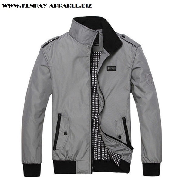 Solid Outerwear Men Casual Jacket for $ 0.22 at KenKay Apparel