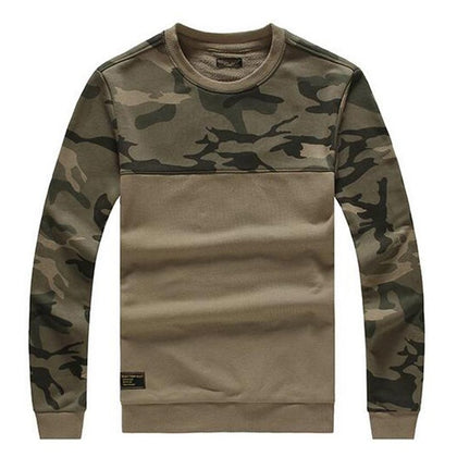 Camouflage Colorblock Pullover Sweater