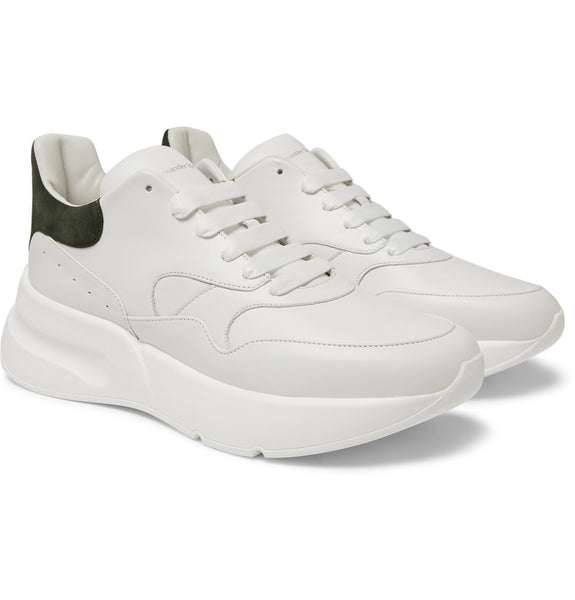 ALEXANDER MCQUEEN Oversized Runner - White/Dark Green