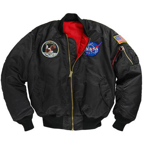Alpha Industries NASA APOLLO MA-1 Flight Jacket - BLACK