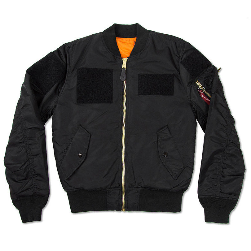Alpha Industries MA-1 FLEX SLIM FIT FLIGHT JACKET - BLACK
