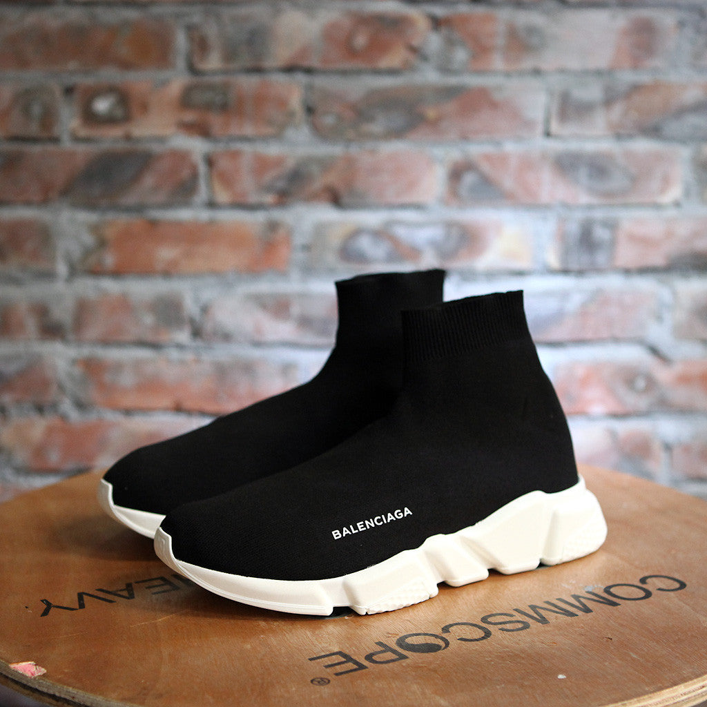 Balenciaga SPEED SOCK STRETCH-KNIT - BLACK/WHITE
