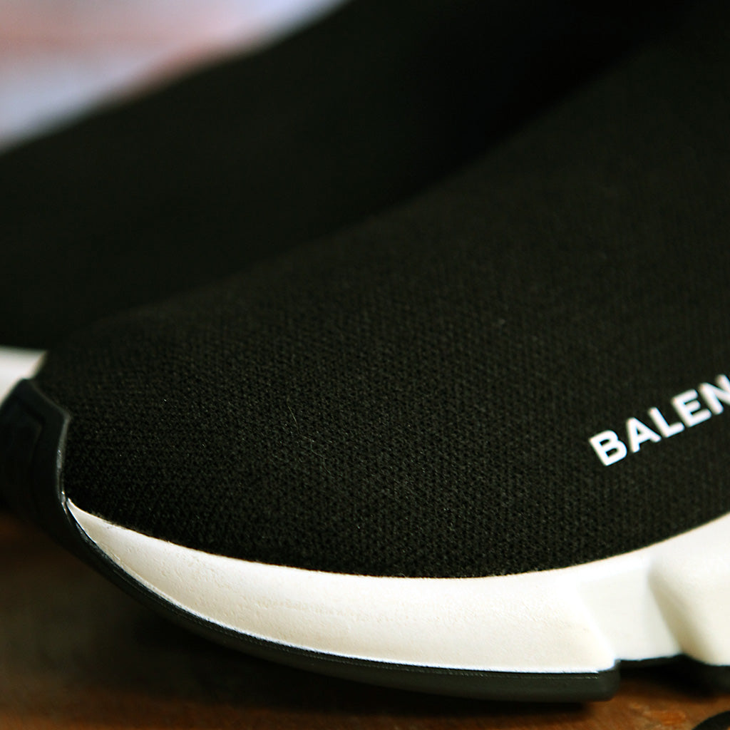 Balenciaga SPEED SOCK STRETCH-KNIT - BLACK/WHITE 2.0