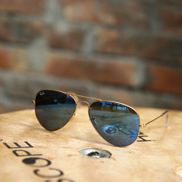 Ray-Ban AVIATOR FLASH LENSES - GOLD BLUE FLASH
