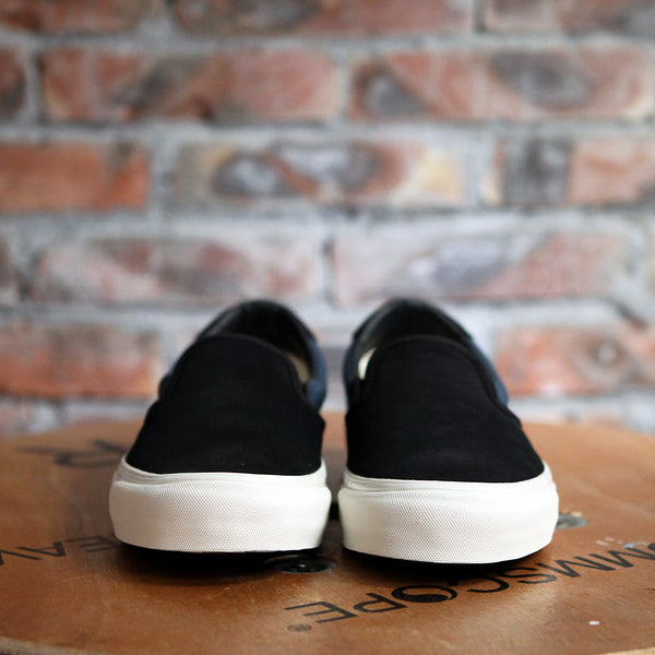 Vans OG 59 LX Suede And Canvas Slip-On - BLACK/BLUE