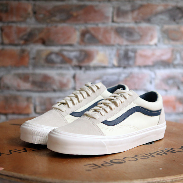 Vans OG OLD SKOOL LX Suede And Canvas - OFF WHITE/BLUE