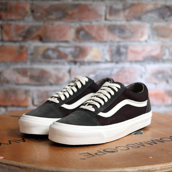 Vans OG OLD SKOOL LX Suede And Canvas - BLACK/BROWN