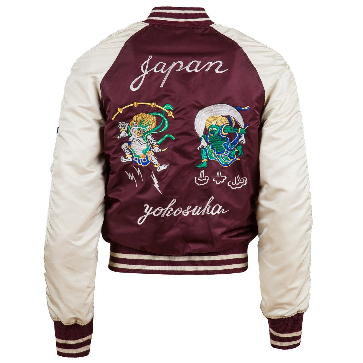 Alpha Industries MA-1 Souvenir Shinto Flight Jacket - Maroon / White
