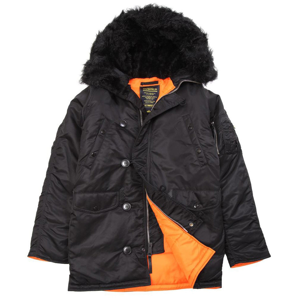 Alpha Industries SLIM FIT N-3B PARKA - BLACK